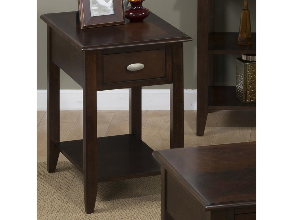 Jofran Merlot Chairside Table For Small Es