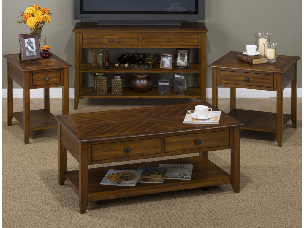 Jofran Medium BrownChairside Table