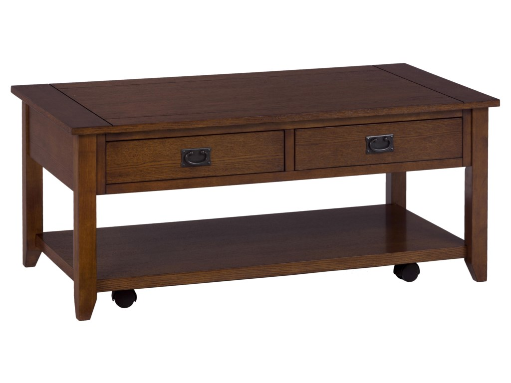 Jofran Mission OakCastered Cocktail Table
