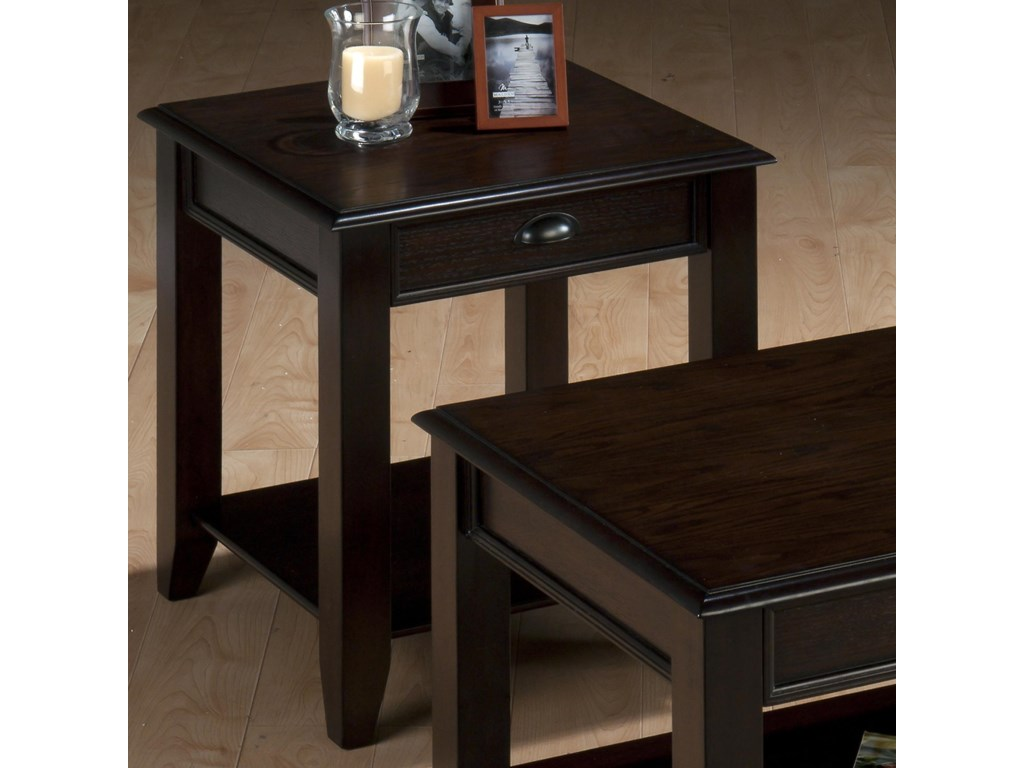 Jofran Bartley OakEnd Table with One Drawer