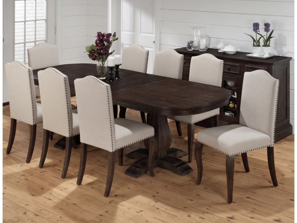 Jofran Grand TerraceDining Table and Upholstered Chair Set