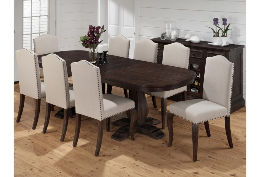 Jofran Grand Terrace Traditional Styled Dining Table with ...