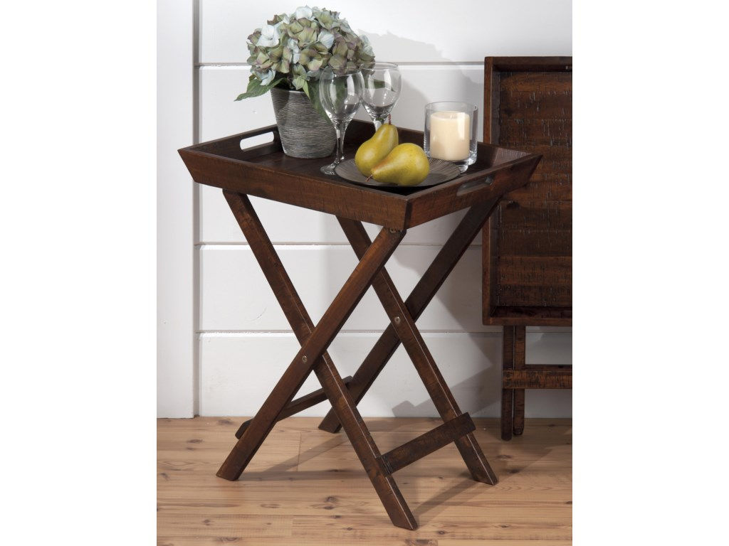 Jofran Urban Lodge BrownFolding Accent Tray