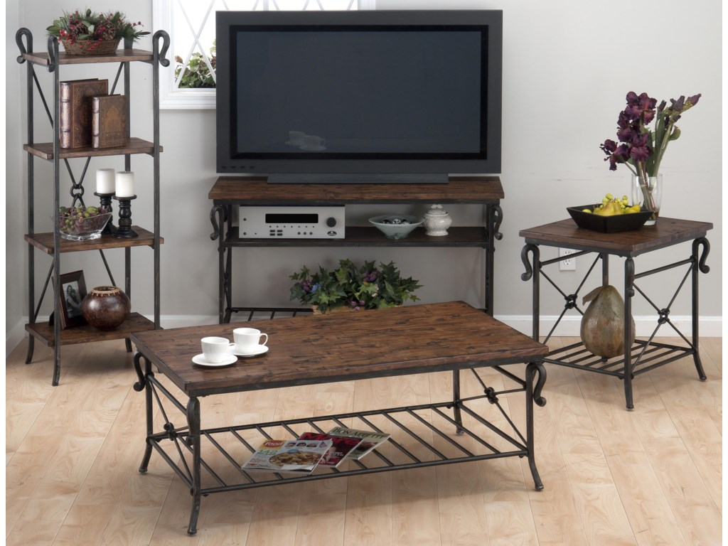 Shown with Cocktail Table, Etagere, and Sofa/Media Table