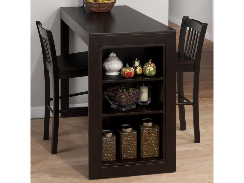 Shown with Slat Back Counter Height Stools