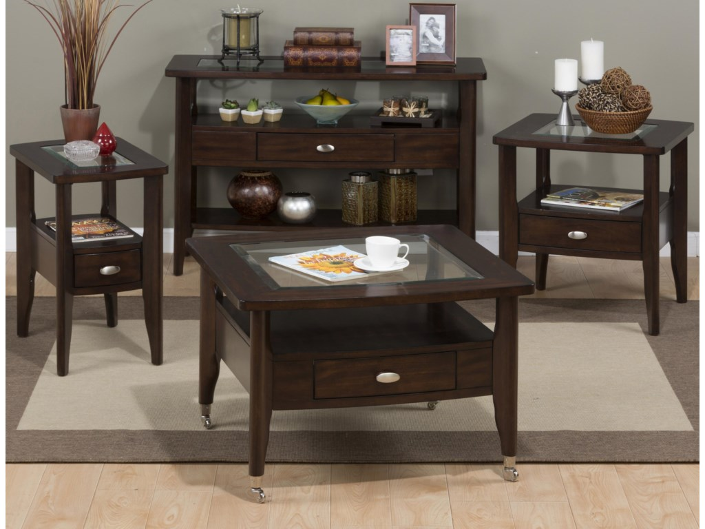 Jofran Montego MerlotSofa Table