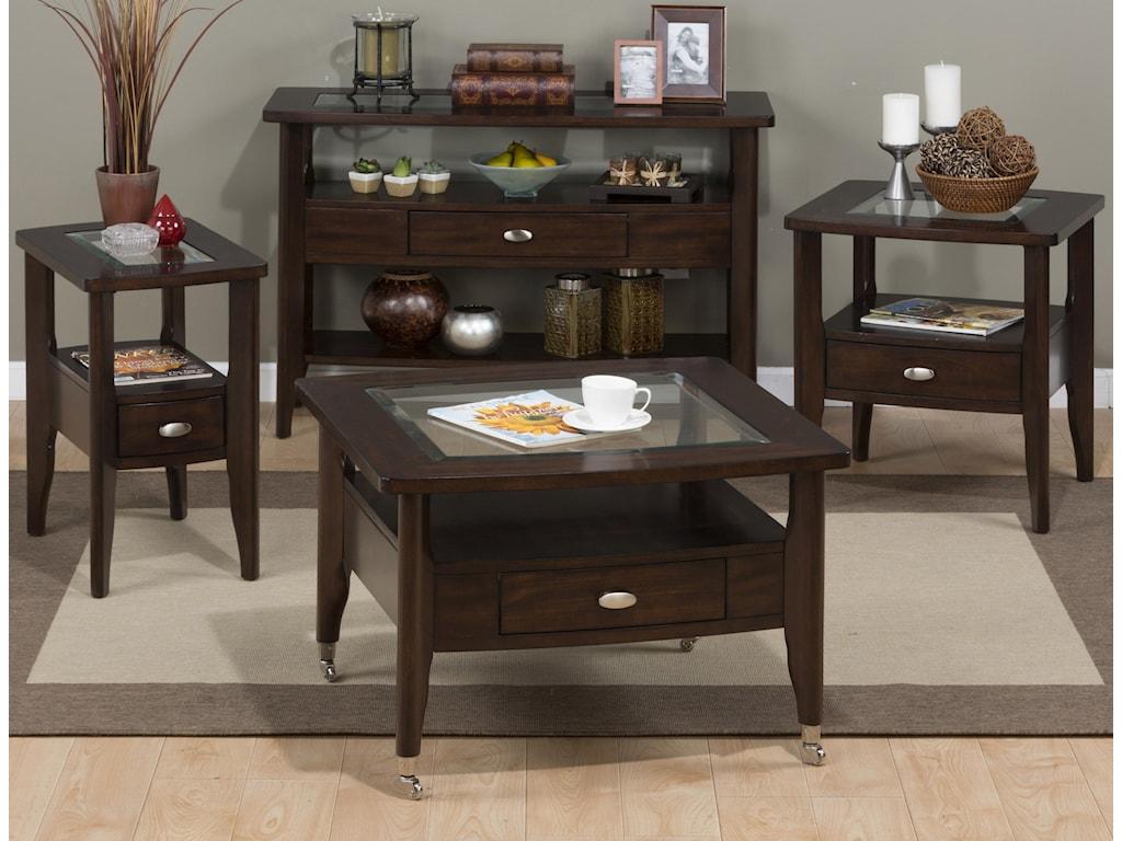 Jofran Montego MerlotChairside Table