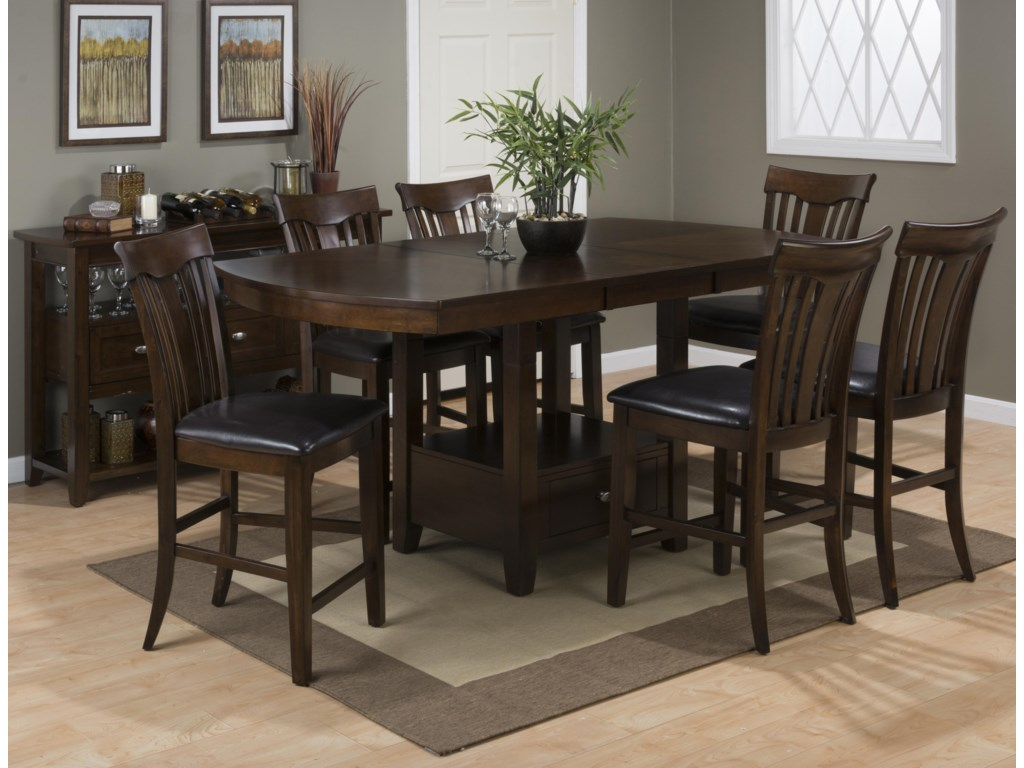 Jofran Mirandela BirchCounter Height Dining Table Set