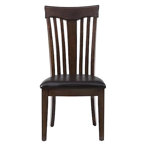Jofran Mirandela Birch Contoured Slat Back Chair with Padded Cushion