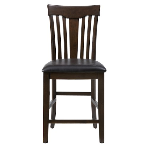 Jofran Tavia Counter Height Chair with Slat Back