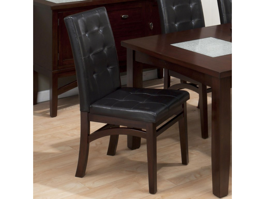 Set Includes Six Tufted Faux Leather Parson Chairs