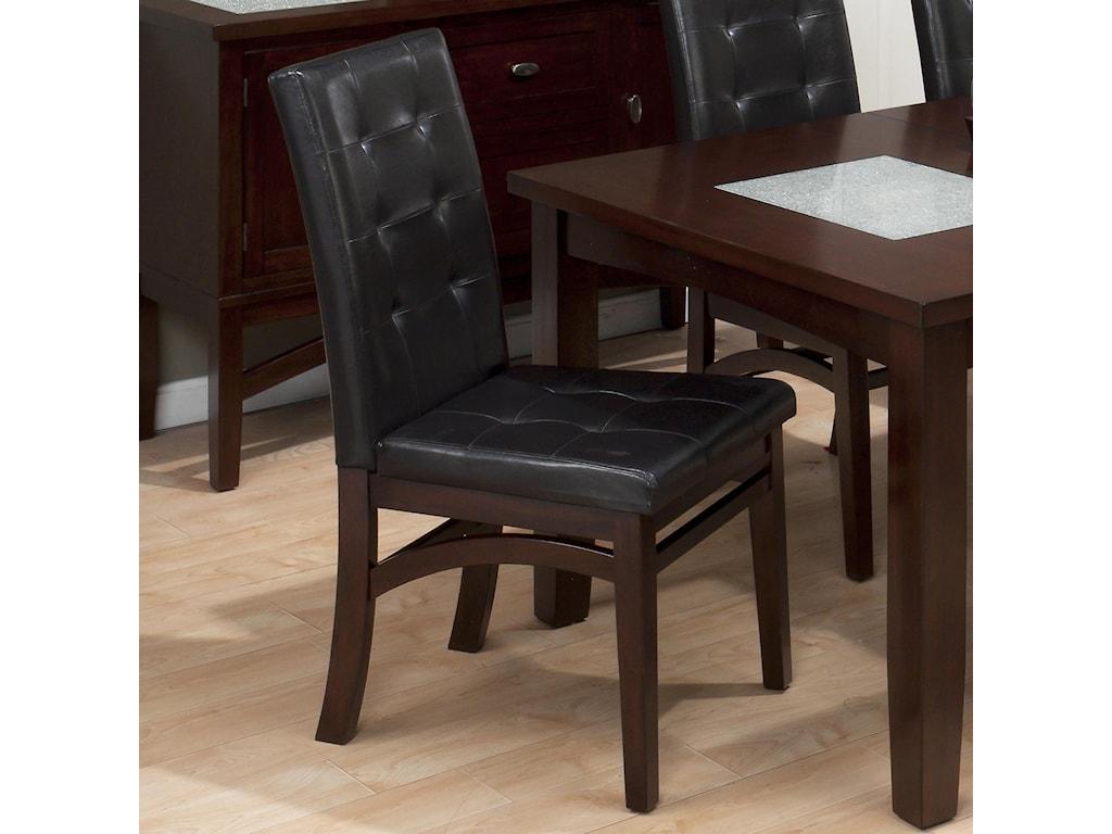 Jofran Chadwick EspressoTufted Parson Chair
