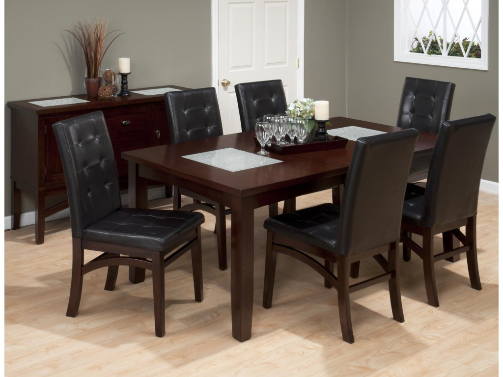 Shown with Coordinating Collection Upholstered Chairs and Rectangle Table