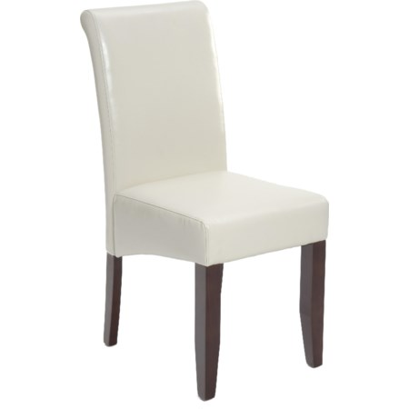 Ivory Bonded Leather Chair
