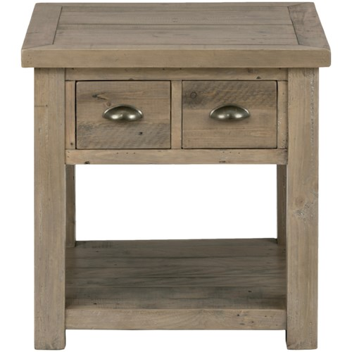 Jofran Slater Mill Pine End Table made of Reclaimed Pine