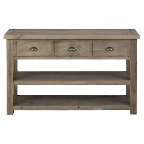 Jofran Slater Mill Pine Sofa Table made of Reclaimed Pine