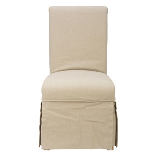 Jofran Bancroft Mills Slipcover Skirted Parson Chair with Linen Look