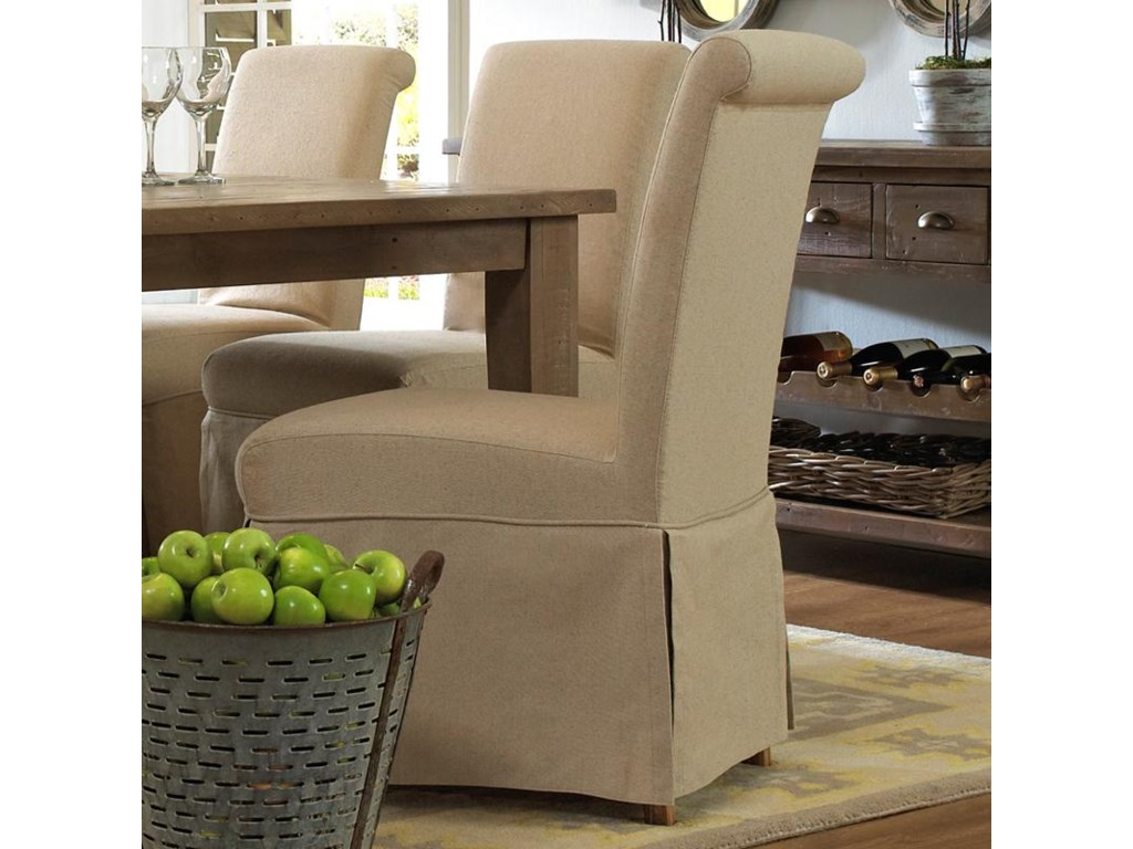 Belfort Essentials Slater Mill Pineslipcover Skirted Parson Chair