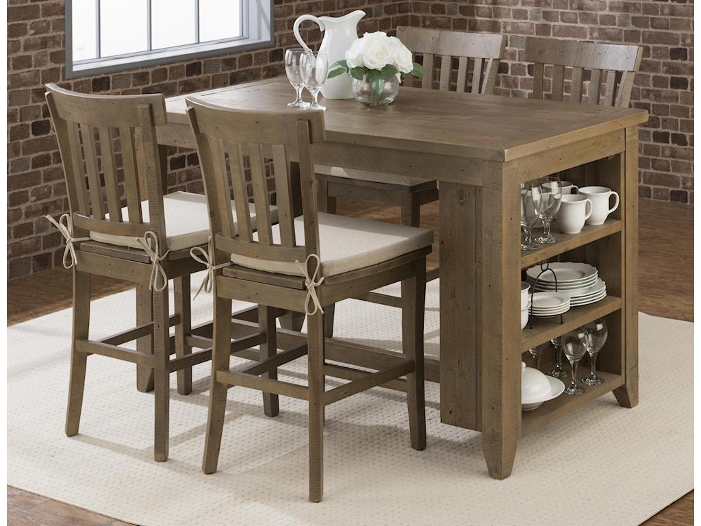 Jofran Slater Mill PineCounter Height Table