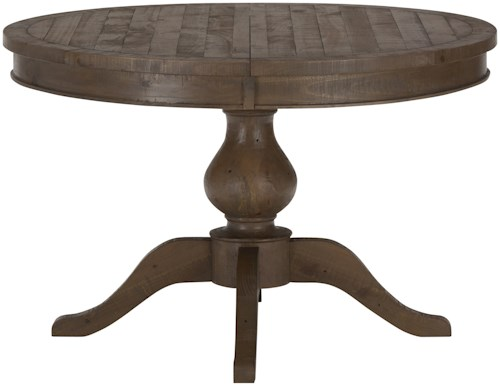 Jofran Slater Mill Pine Reclaimed Pine Round to Oval Dining Table