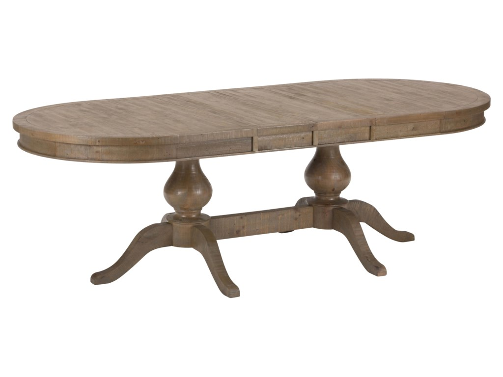 Table shown with leaves inserted