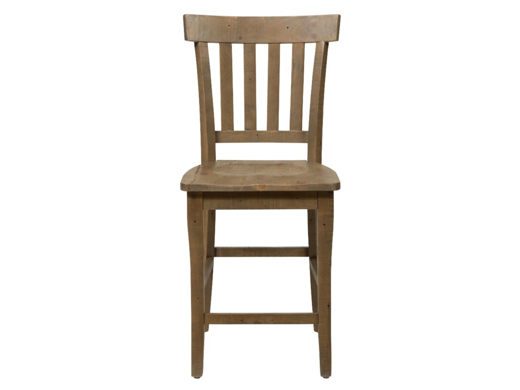 Jofran Slater Mill PineSlat Back Stool