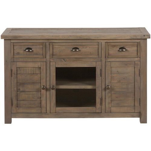"Jofran Slater Mill Pine 50"" Reclaimed Wood Media Unit for TV"