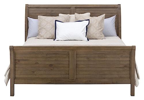 Jofran Slater Mill Pine King Sleigh Bed