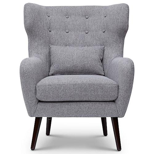 Jofran Easy Living Ava Mid Century Modern Accent Chair
