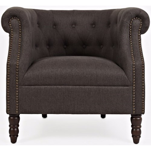 Jofran Easy Living Traditional Grace Club Chair with Nailhead Accents