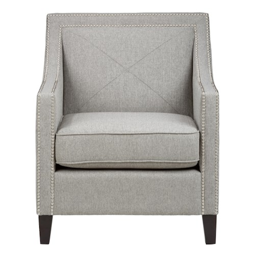 Jofran Upholstered Accent Chairs Ash Luca Club Chair with Nail Head Trim
