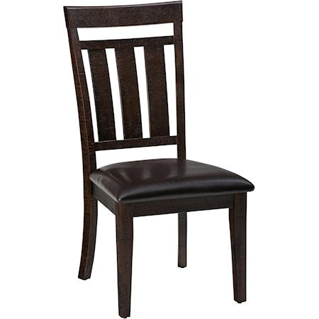 Upholstered Slat back Dining Chair