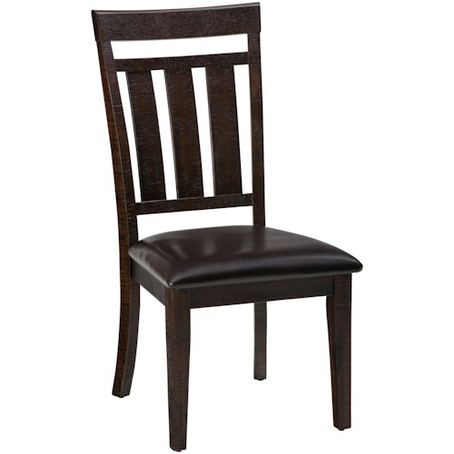 Jofran Kona Grove Upholstered Slat back Dining Chair