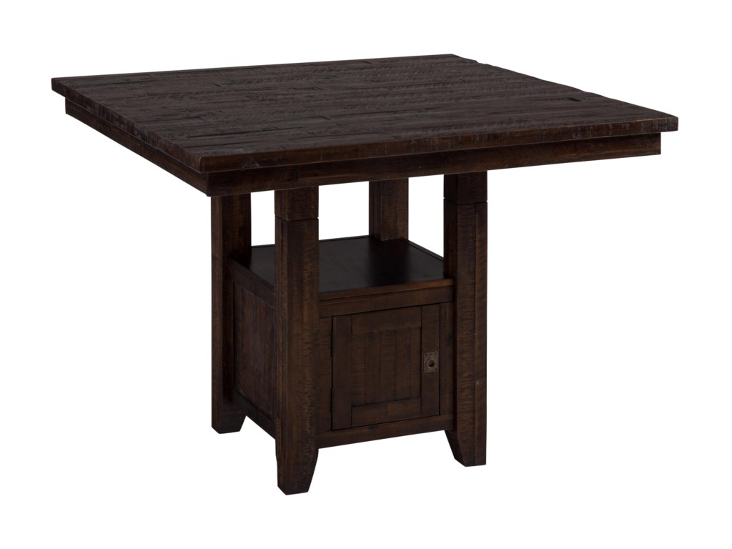 Jofran Kona GroveFixed Counter Table with Storage Base