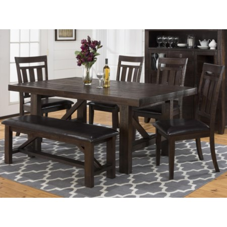 Dining Table, Chair and Bench Set