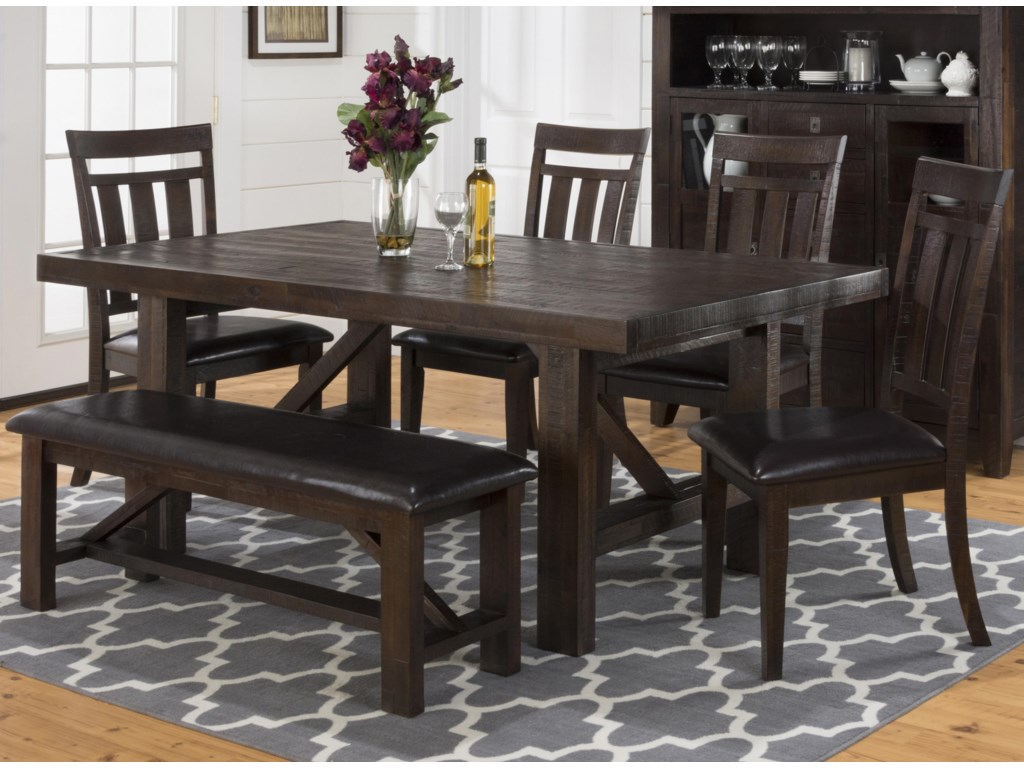 Jofran Kona GroveDining Table, Chair and Bench Set