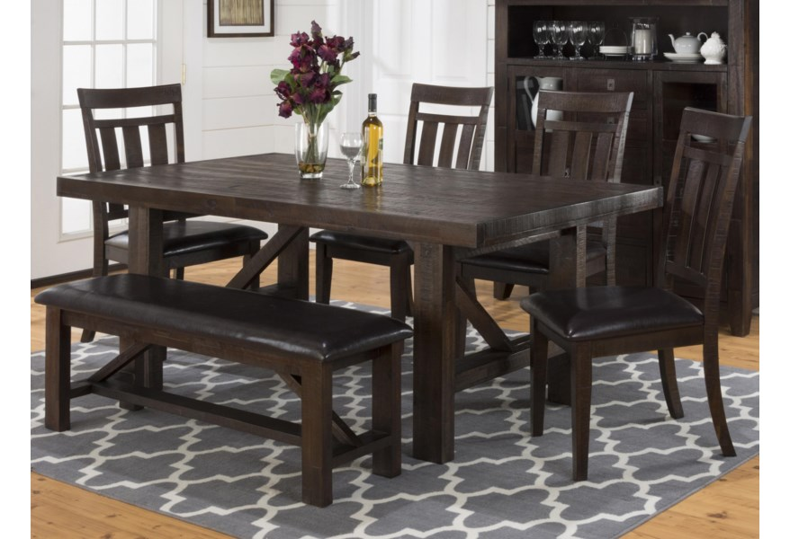 Jofran Kona Grove Dining Table Chair And Bench Set Value City Furniture Table Chair Set With Bench