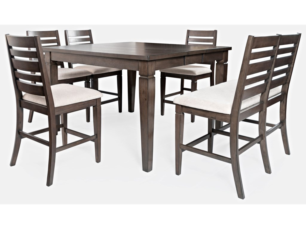 Jofran Lincoln SquareCounter Height Table and Chair Set