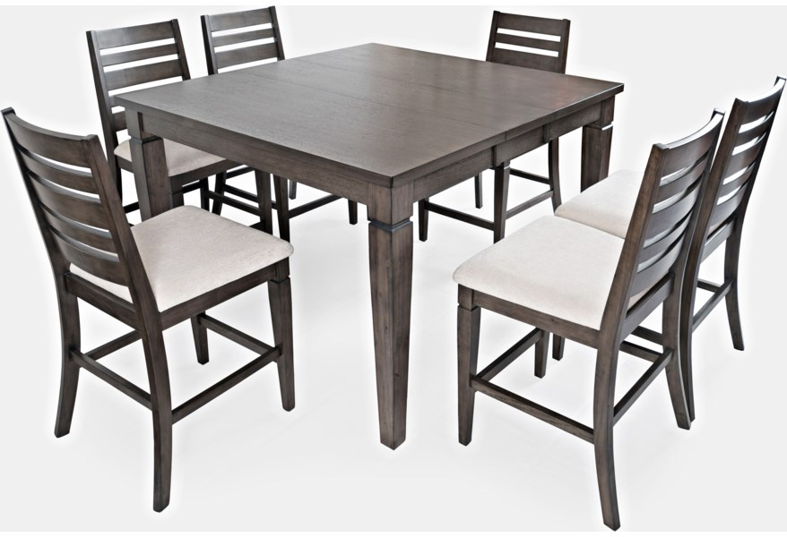 Jofran Lincoln Square Counter Height Table And Chair Set