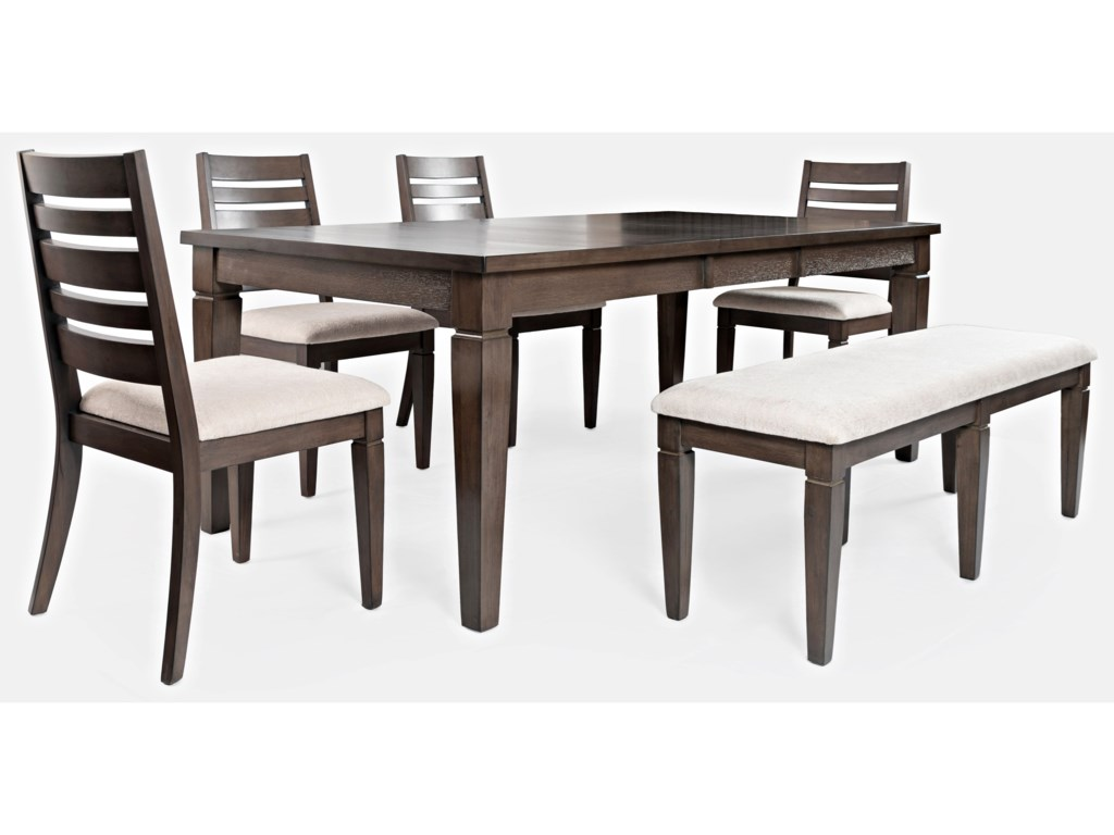 Jofran Lincoln SquareTable and Chair Set with Bench