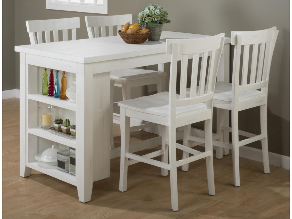 Jofran MadaketReclaimed Pine Counter Height Table Set
