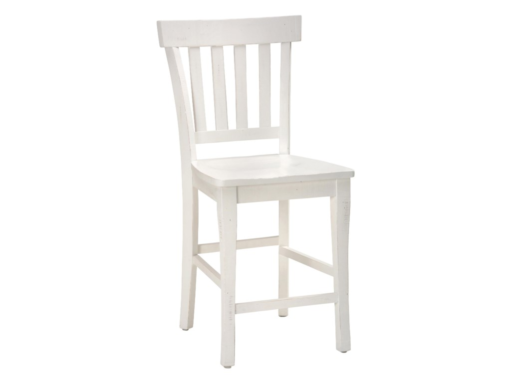 Jofran MadaketReclaimed Pine Slat Back Bar Stool