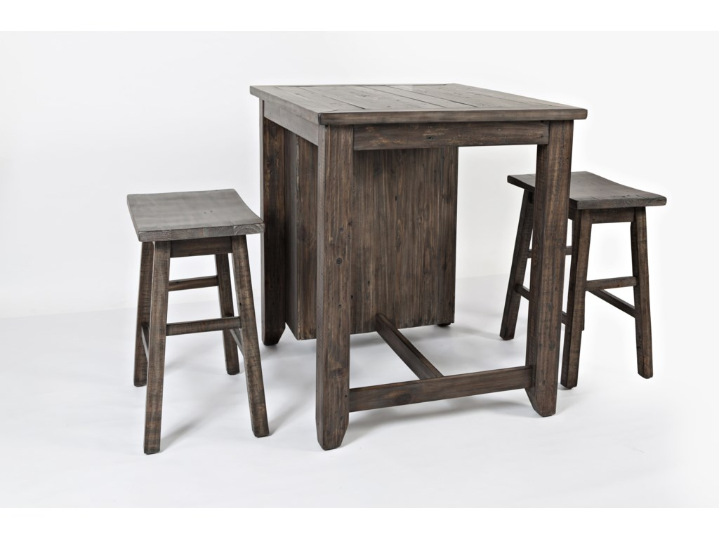 Jofran Madison County3 Piece Counter Height Table Set