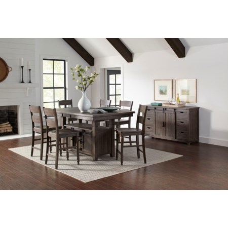 5-Piece Adjustable Height Dining Set