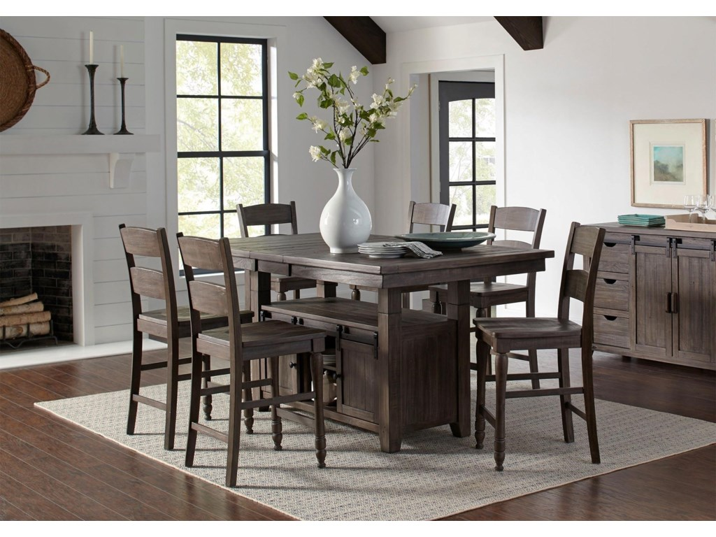 Jofran Myersville - Barnwood7PC Table & Chair Set