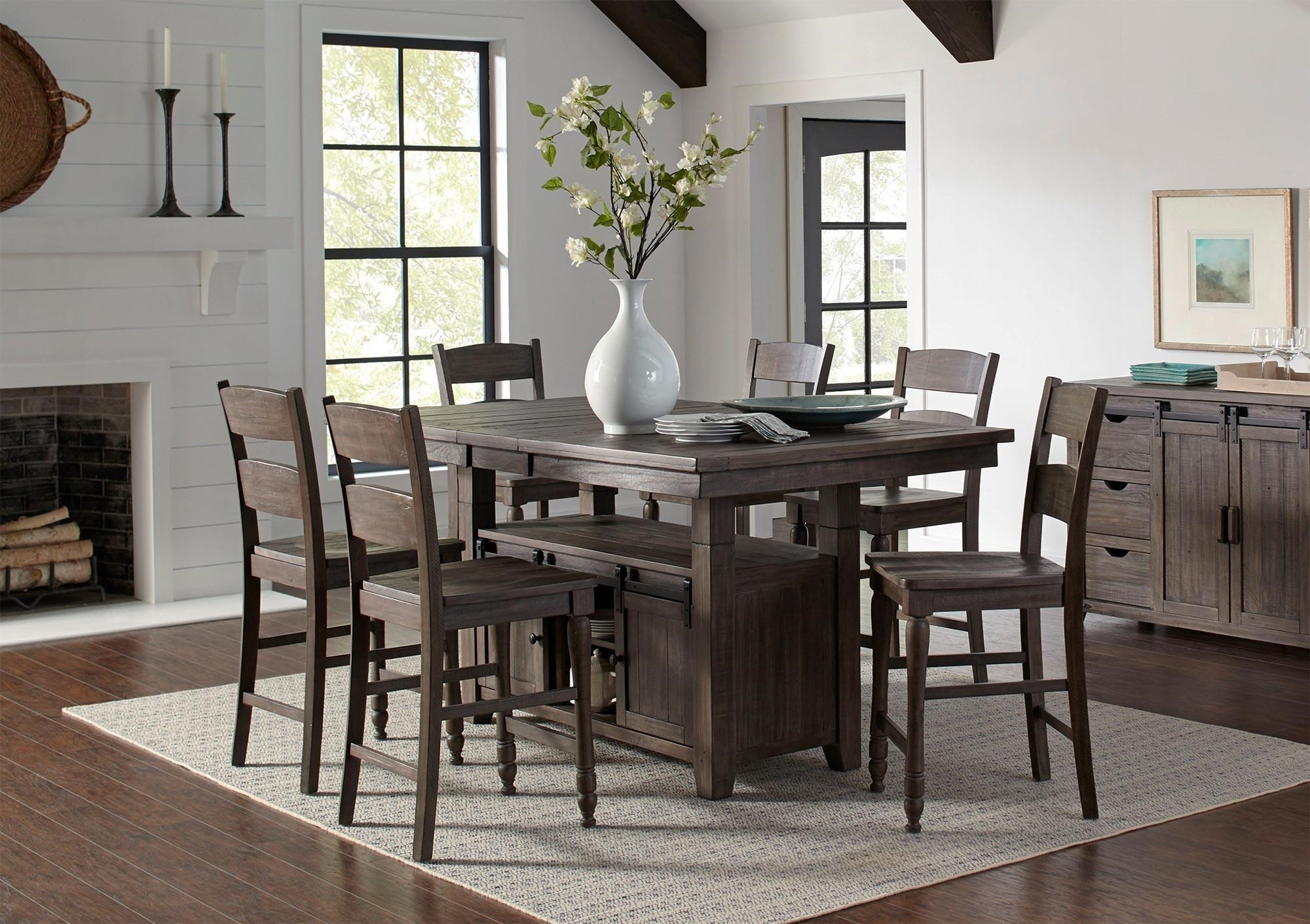 Myersville   Barnwood 7PC Adjustable Height Dining Table U0026 Chair Set By  Jofran At Rotmans