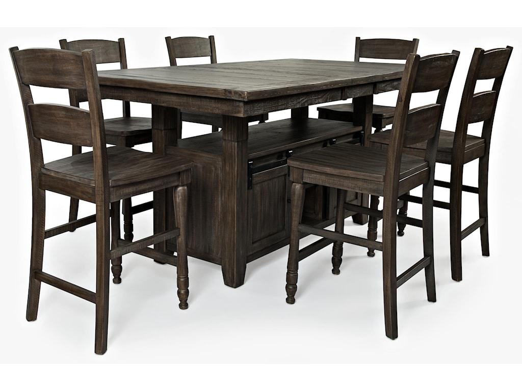 Jofran Madison CountyPub Table & 6 Barstools