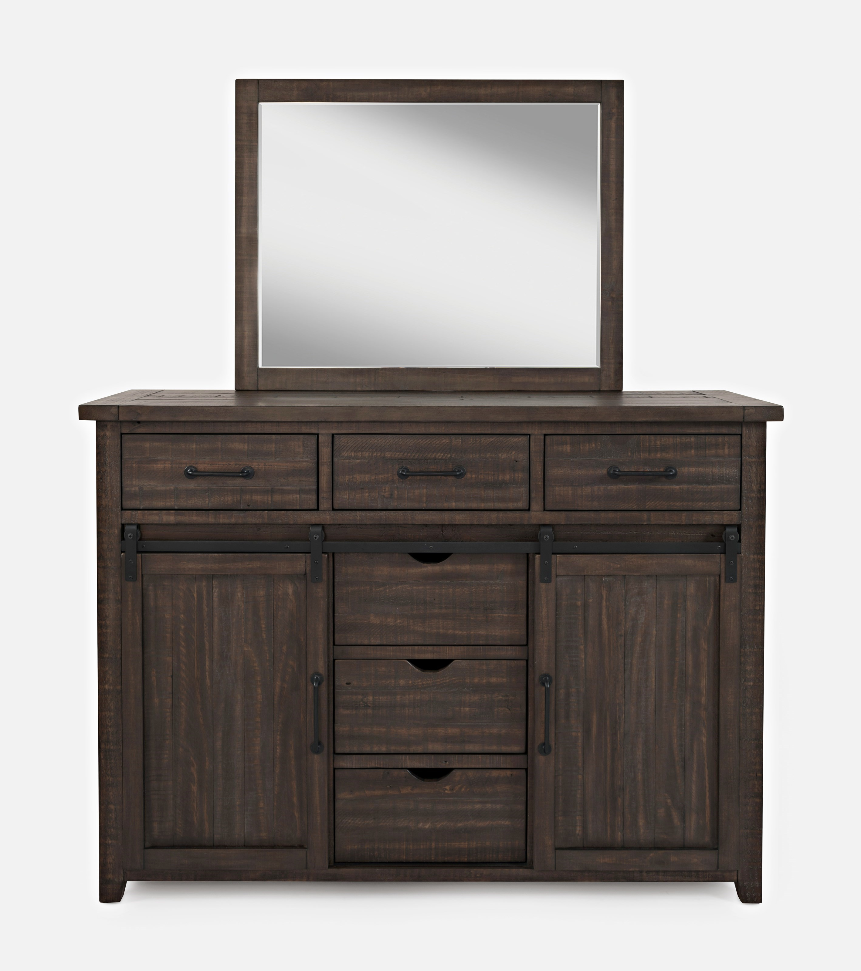 Door Dresser and Mirror Set