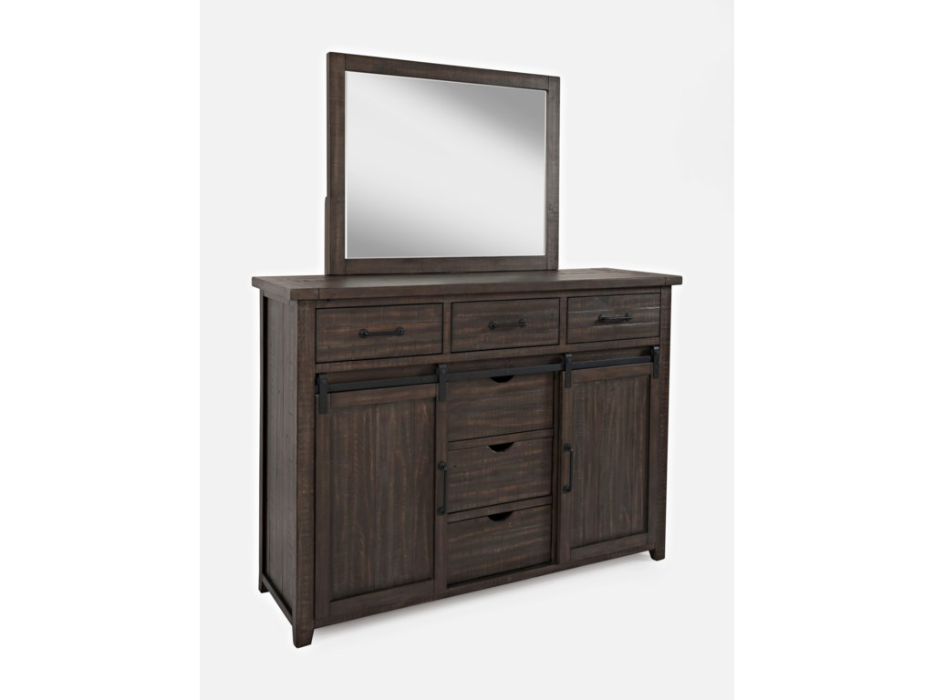 Jofran Madison CountyDresser and Mirror