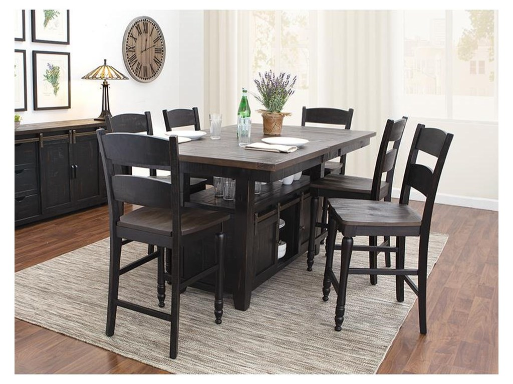 133094ae60 Jofran Madison County 5 Piece Counter Height Dining Set